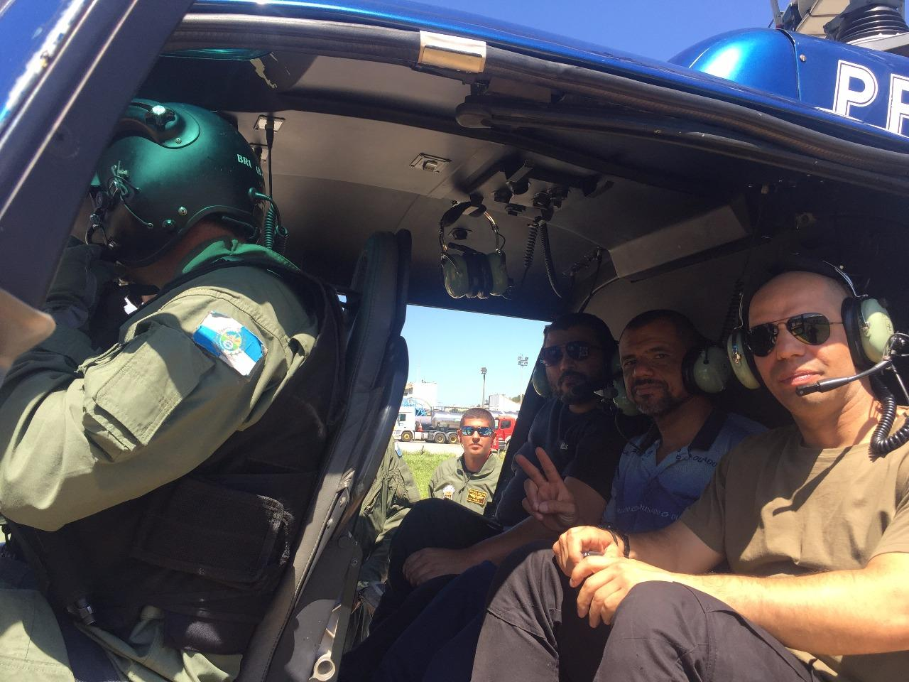 Policiais cadeirantes e amputados visitam o GAM