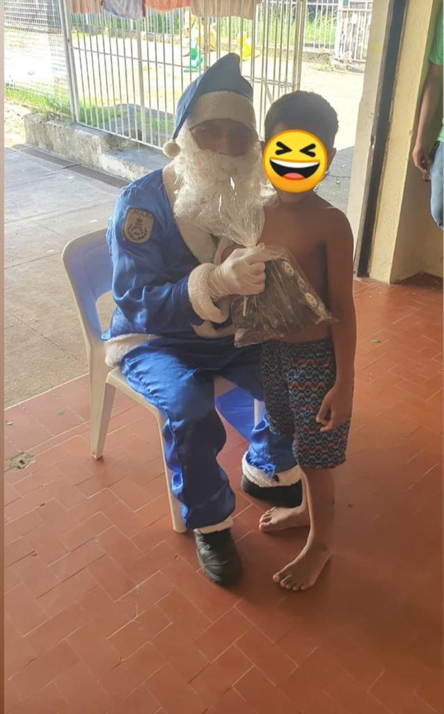 Nosso Natal Azul também chegou às crianças das Unidades de Reinserção Social